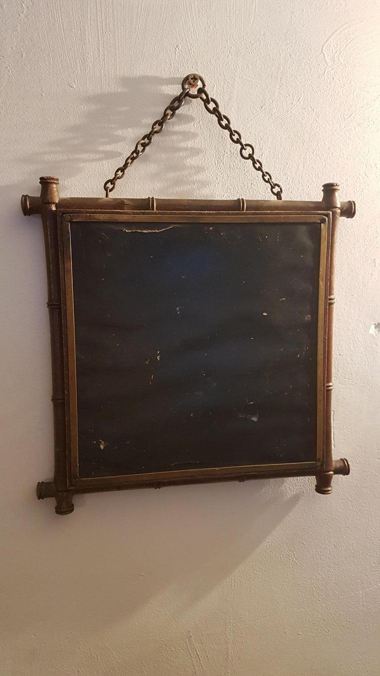 Early 20th Century Miroir Brot Tryptic Faux Bamboo Mirror For Sale 4