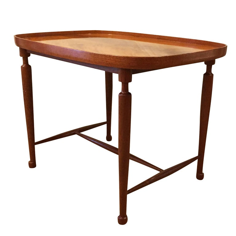 Art Deco 20th Century Swedish Svensk Tenn Cuban Mahogany Coffee Table by Josef Frank For Sale