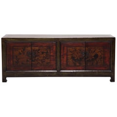 Early 20th Century Mongolian Blossoms of the Vine Coffer