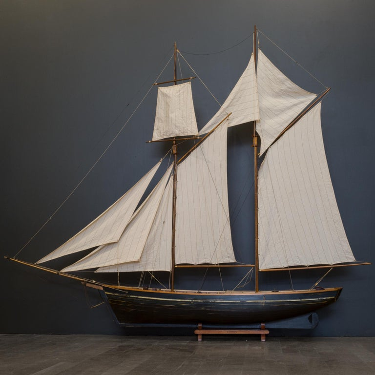 Early 20th Century Monumental Wooden Ship Model, circa 1940s For Sale 6