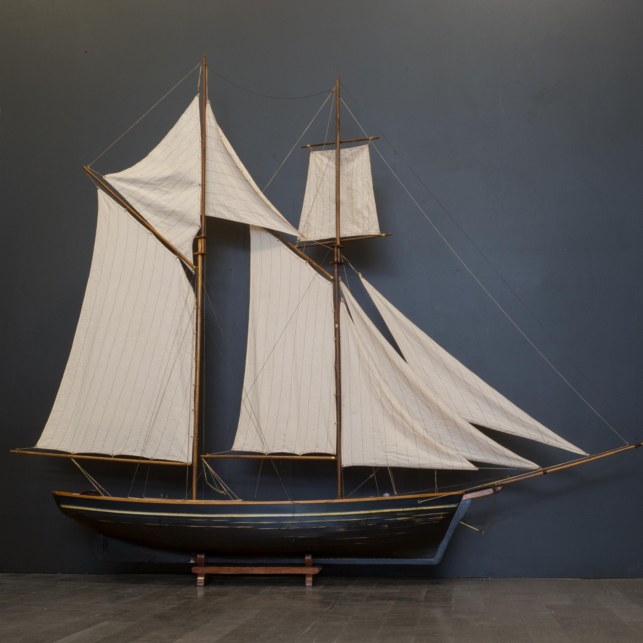 Early 20th Century Monumental Wooden Ship Model Circa 1940s