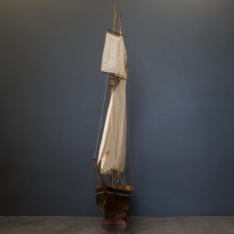 Early 20th Century Monumental Wooden Ship Model, circa 1940s For Sale 8