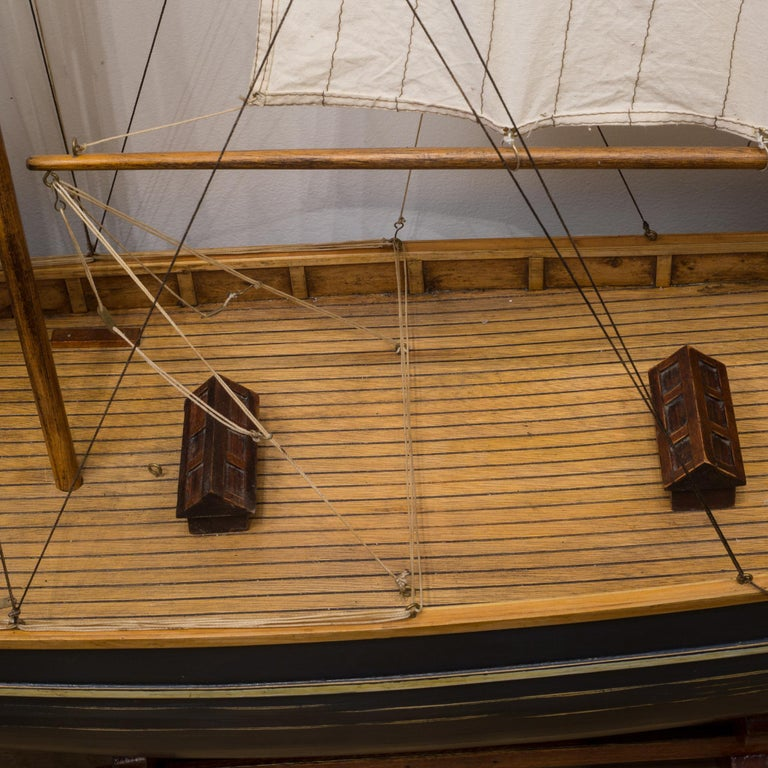 Early 20th Century Monumental Wooden Ship Model, circa 1940s For Sale 10