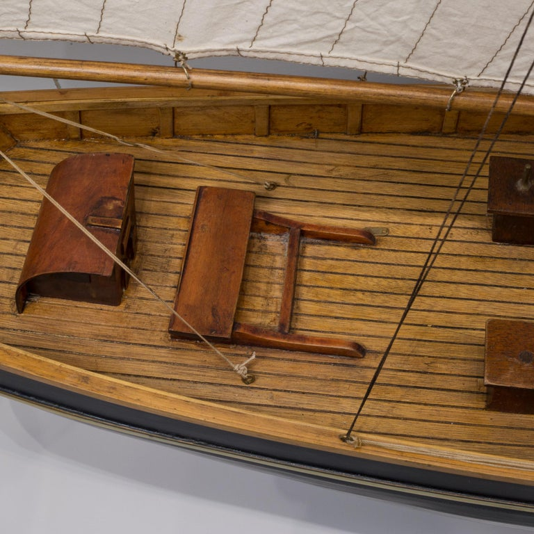 Early 20th Century Monumental Wooden Ship Model, circa 1940s For Sale 12