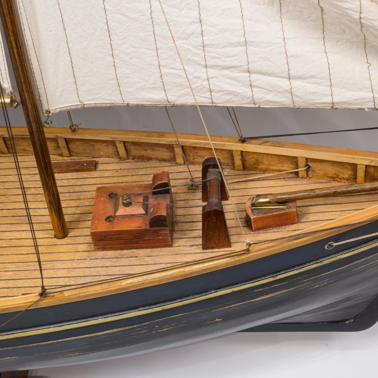 Early 20th Century Monumental Wooden Ship Model, circa 1940s For Sale 13