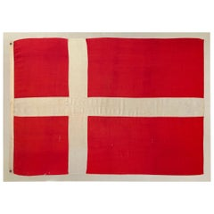 Early 20th Century Mounted Danish Flag