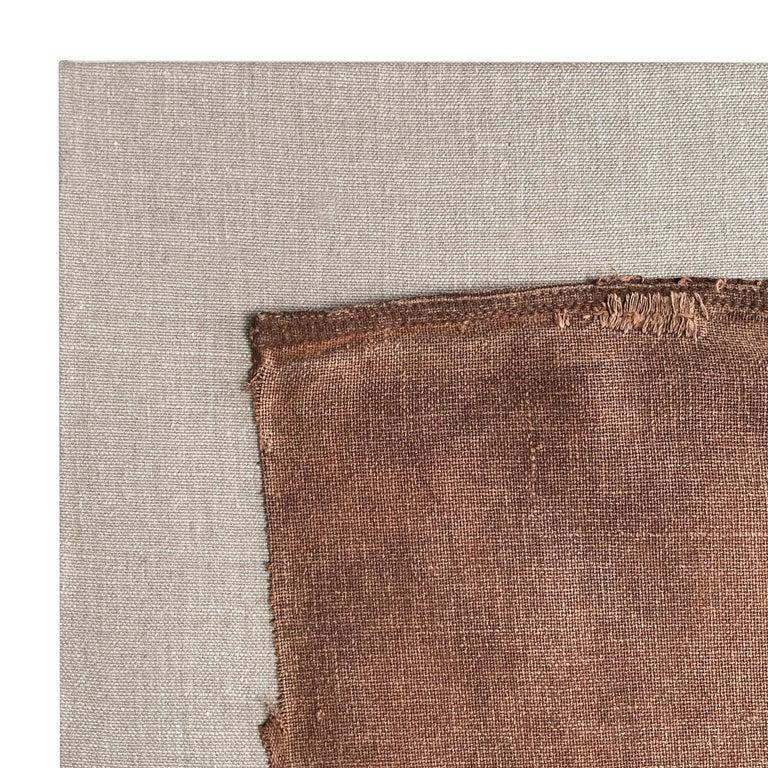 Cotton Early 20th Century Mounted Japanese Sakabukuro For Sale