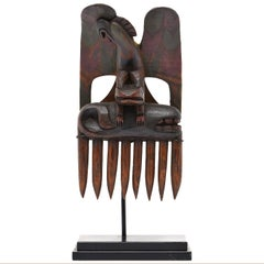 Early 20th Century Native American North West Coast Eagle Comb