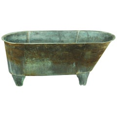 Early 20th Century Naturally Patinated Copper Bath