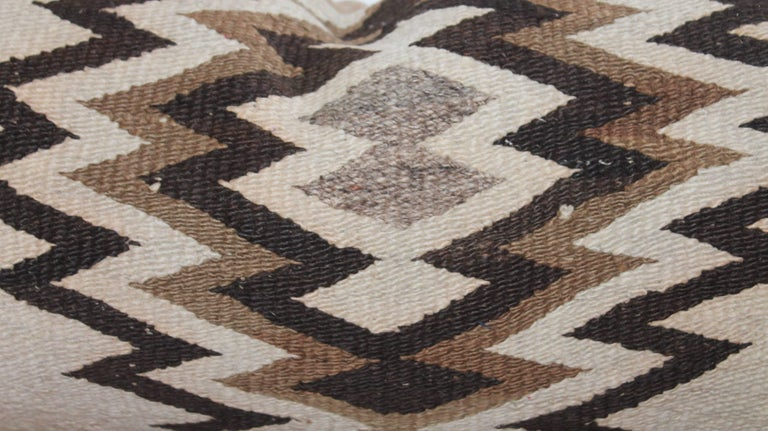 Other Early 20th Century Navajo Indian Weaving Bolster Pillow For Sale