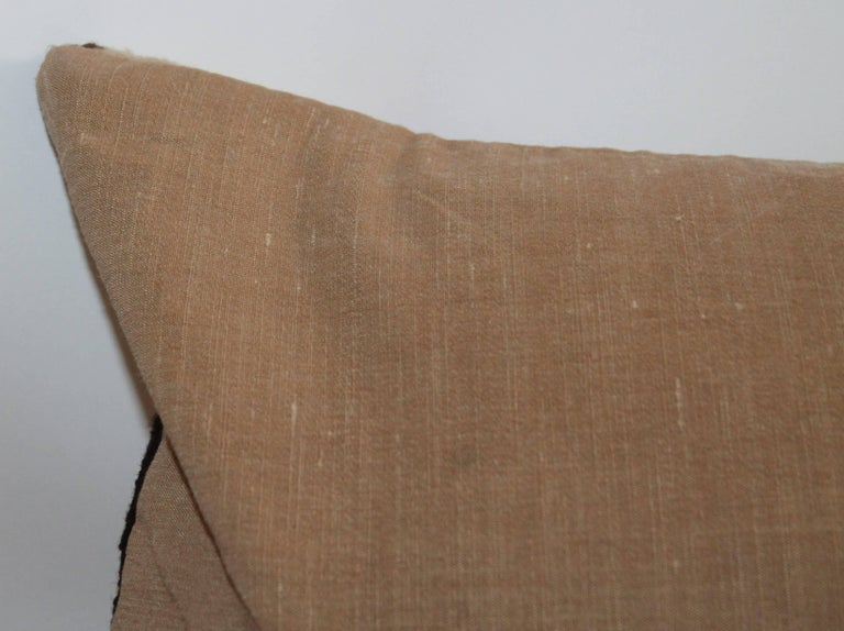 Wool Early 20th Century Navajo Indian Weaving Bolster Pillow For Sale