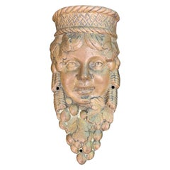 Early 20th Century Neoclassical Bronze Face