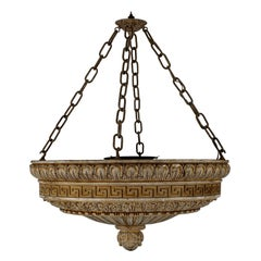 Early 20th Century Neoclassical Style Cast Plaster Chandelier