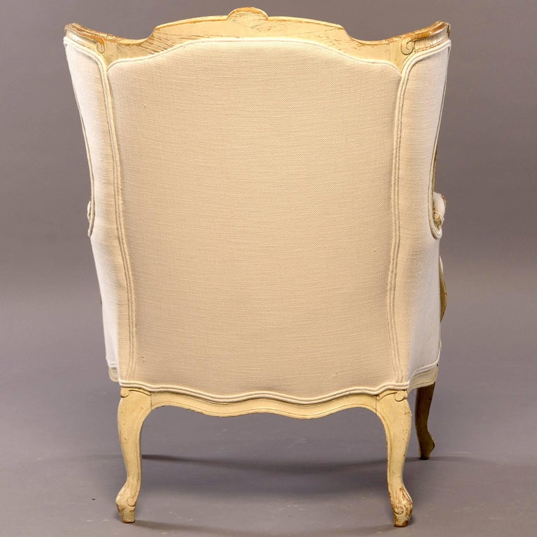 Early 20th Century Newly Upholstered French Bergere In Good Condition For Sale In Troy, MI