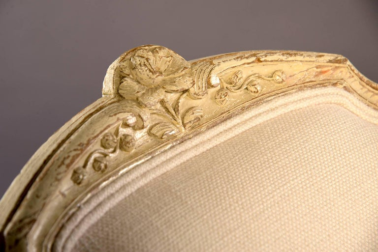 Early 20th Century Newly Upholstered French Bergere For Sale 1
