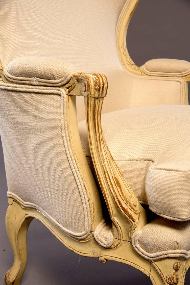Early 20th Century Newly Upholstered French Bergere For Sale 2