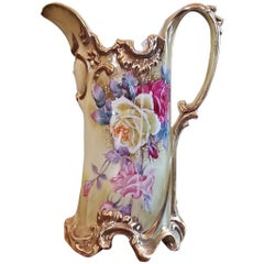 Early 20th Century Nippon Hand-Painted Porcelain Pitcher or Jug