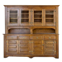 Early 20th Century Oak Backbar
