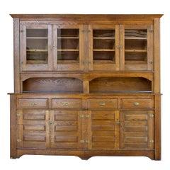 Early 20th Century Oak Backbar