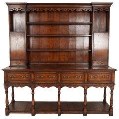 Early 20th Century Oak Pot Board Welsh Dresser, Sideboard, Scotland 1920, B2157