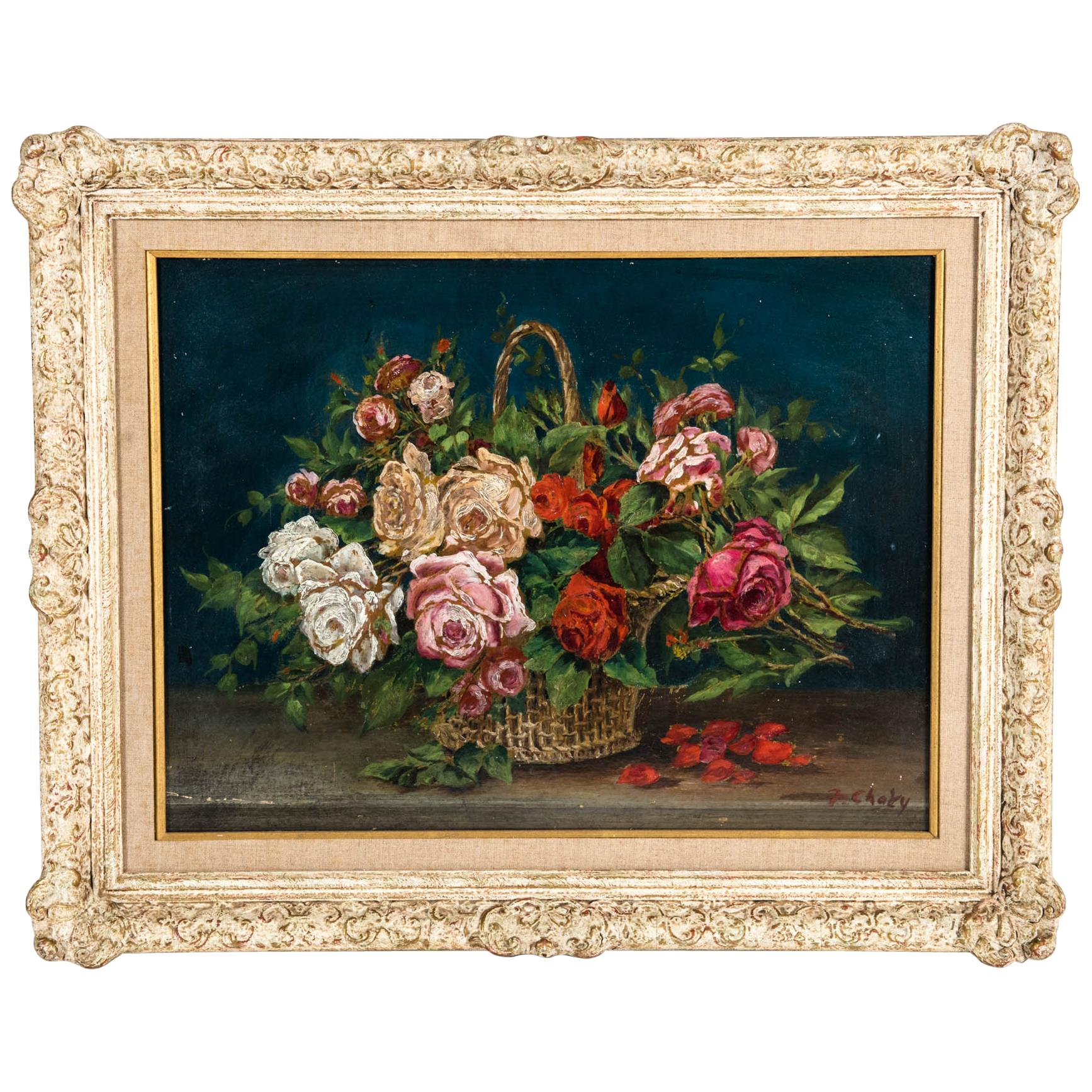 Early 20th Century Oil / Board Painting with Wood Frame