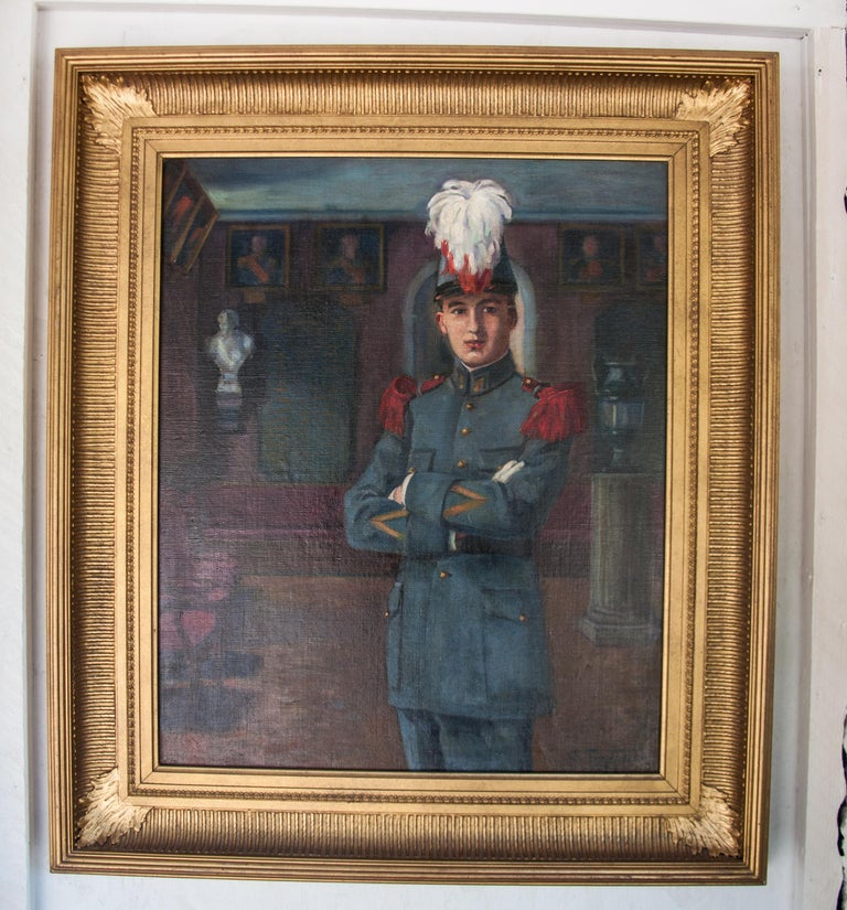 Oiled Early 20th Century Oil on Canvas by C Tertiaux,