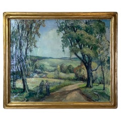 Early 20th Century Oil on Canvas Painting by Abigail Keyes Brown