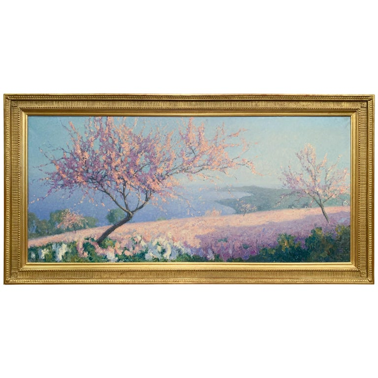 20th Century Oil on Canvas Painting in Gilt Frame Signed R. Thibesart For Sale