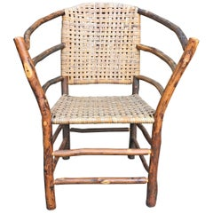 Early 20th Century Old Hickory Barrel-Back Armchair