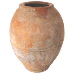 Early 20th Century Olive Pot from Spain, Stone Rose Color Terracotta, Original