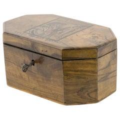 Early 20th Century Olivewood Etrog Box by Bezalel School Jerusalem