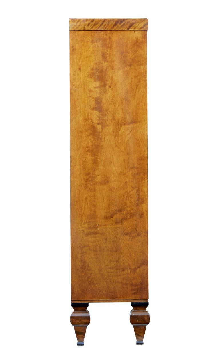Art Deco Early 20th century open birch bookcase by David Blomberg For Sale