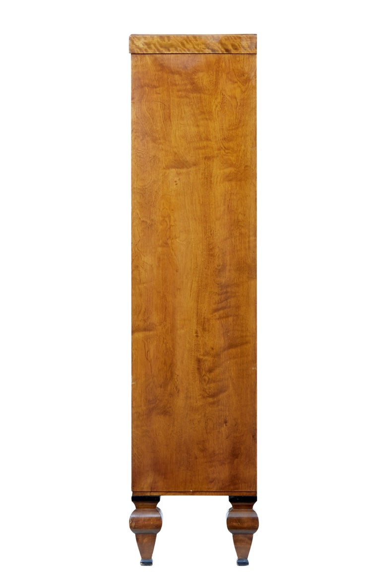 Veneer Early 20th century open birch bookcase by David Blomberg For Sale