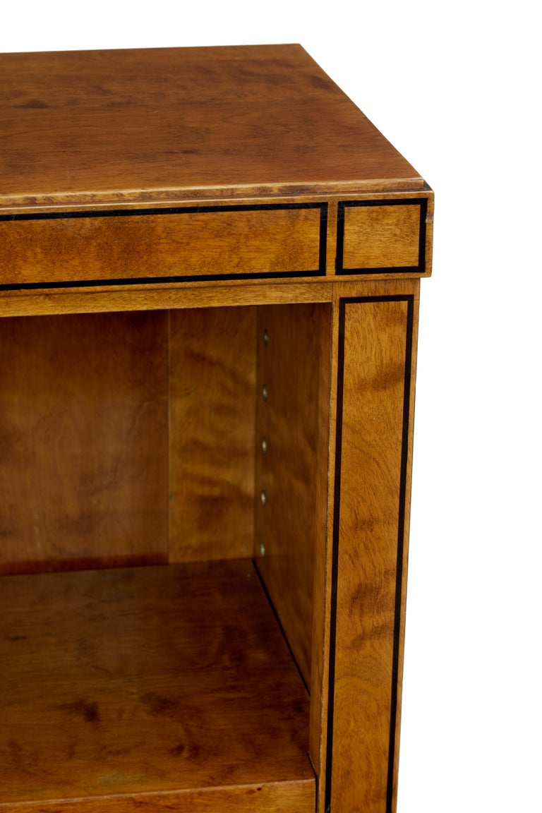 20th Century Early 20th century open birch bookcase by David Blomberg For Sale