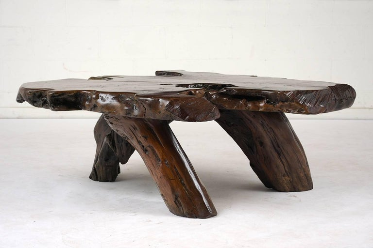 Hand-Carved Organic Root Coffee Table For Sale