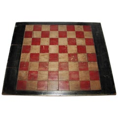 Early 20th Century Original Painted Game Board