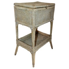 Early 20th Century Original Painted Sea Grass Side Table