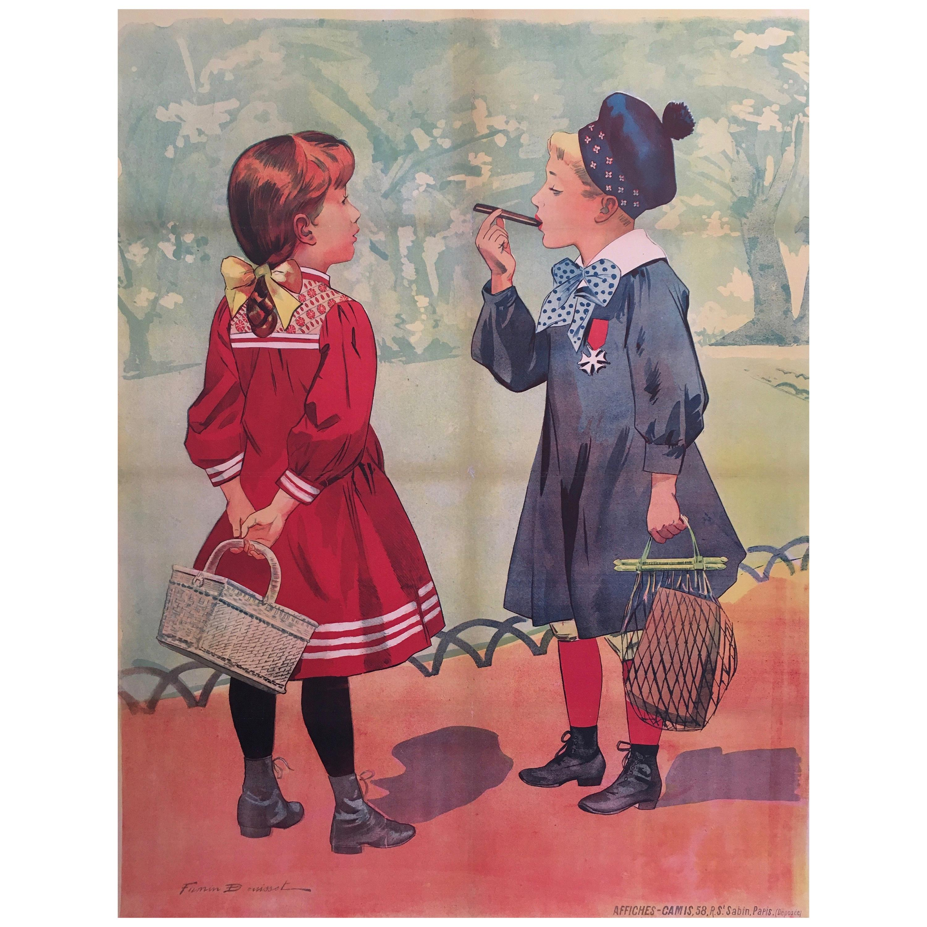 Early 20th Century Original Vintage French Poster by Firmin Bouisset