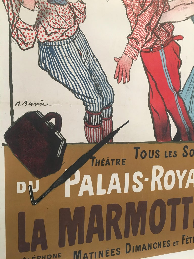 International Style Early 20th Century Original Vintage French Poster, 'La Marmotte', 1904 For Sale