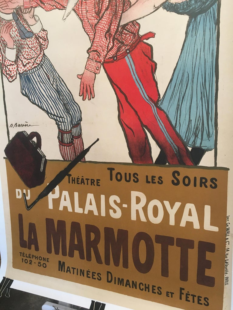Early 20th Century Original Vintage French Poster, 'La Marmotte', 1904 In Good Condition For Sale In Melbourne, Victoria