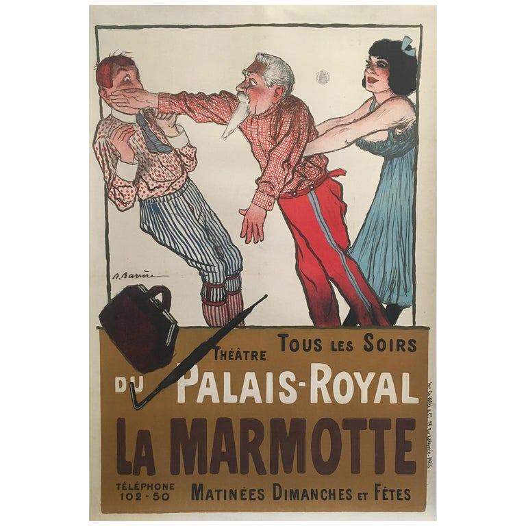 Early 20th Century Original Vintage French Poster, 'La Marmotte', 1904 For Sale