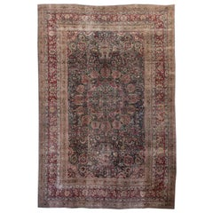 Early 20th Century Overdyed Wool Rug