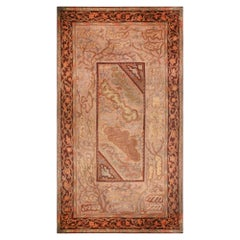 Early 20th Century Oversized Art Deco Rug in Beige, Red and Brown