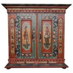 Early 20th Century Painted Armoire