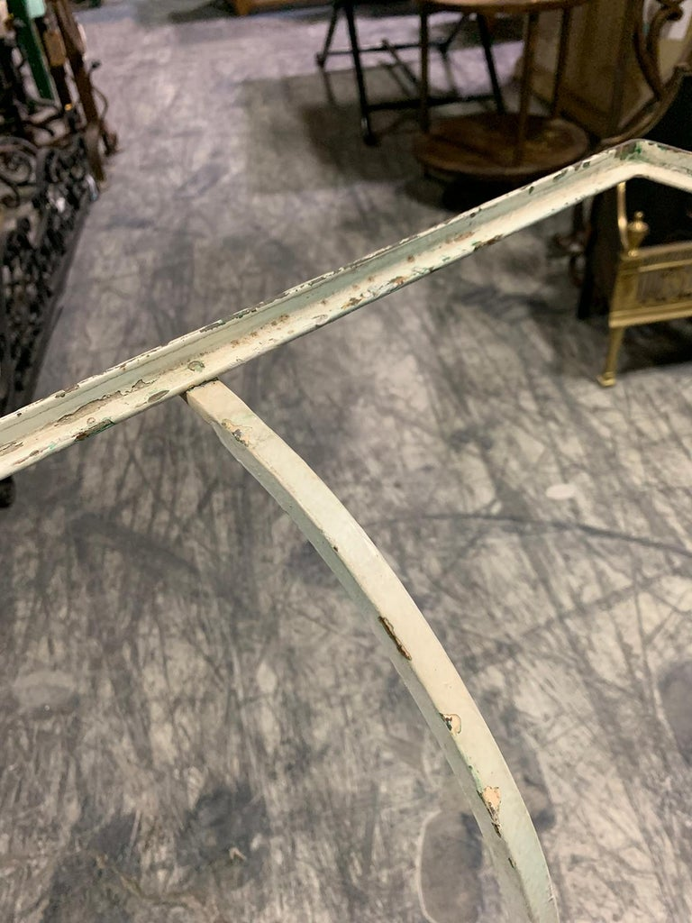 Early 20th Century Painted Iron Garden Table For Sale 7