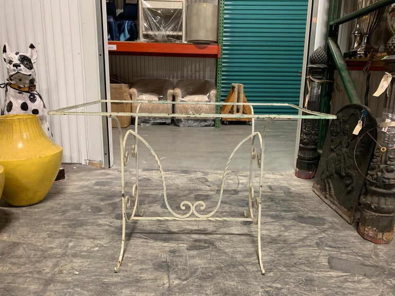 Early 20th century painted iron garden table.