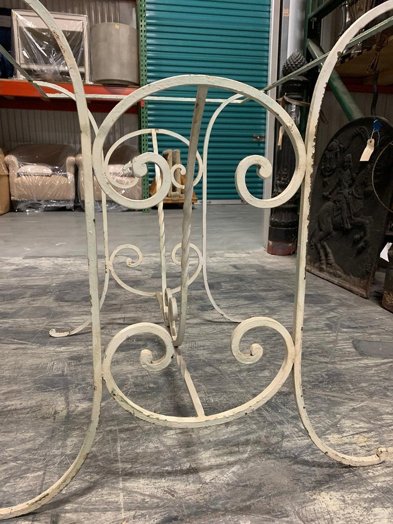 Early 20th Century Painted Iron Garden Table For Sale 3