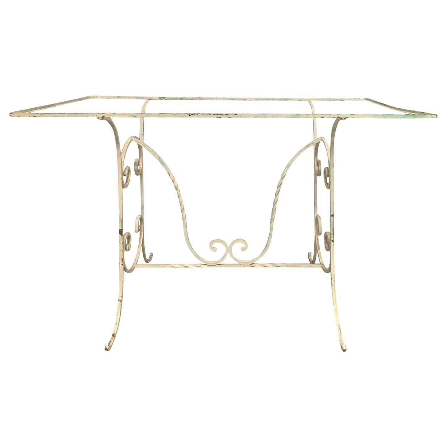 Early 20th Century Painted Iron Garden Table