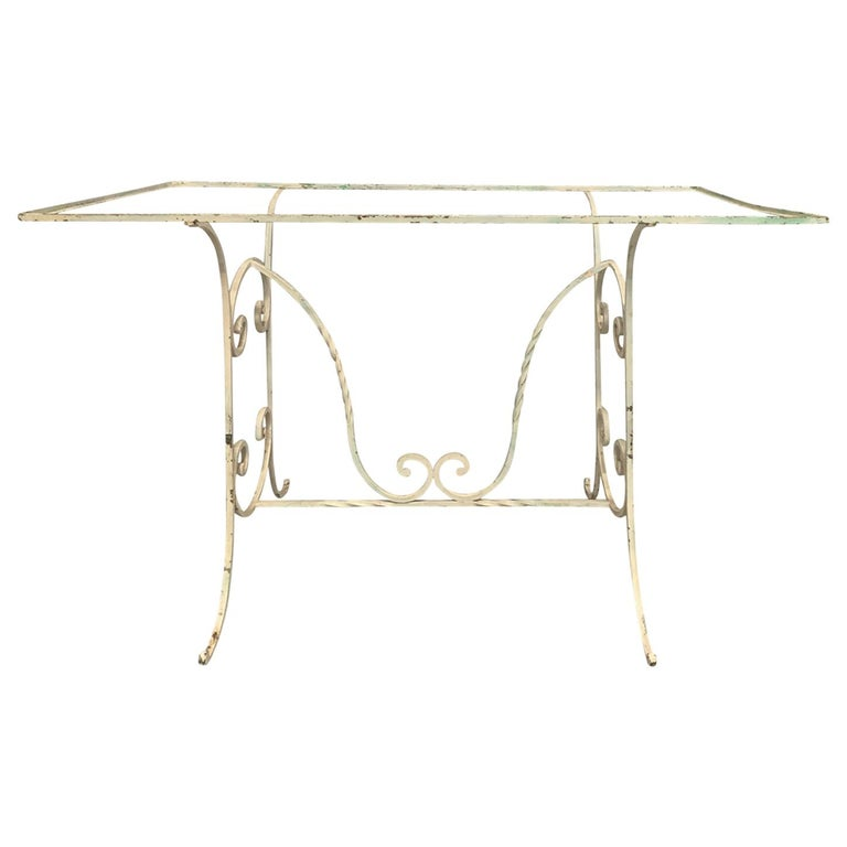 Early 20th Century Painted Iron Garden Table For Sale