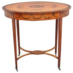 Early 20th Century Painted Satinwood Occasional Table